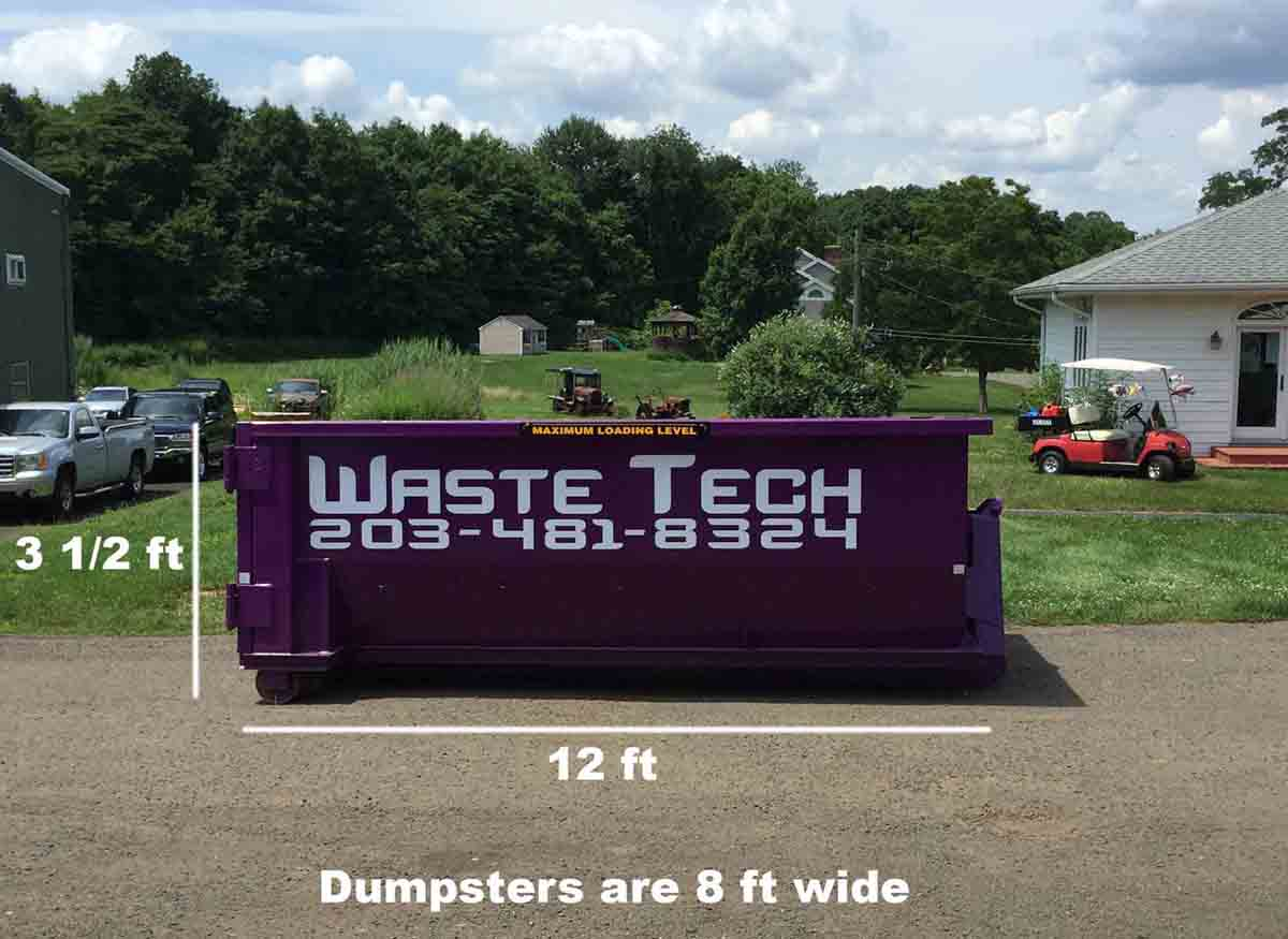 Waste Tech - 10 yard dumpster