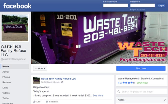 PurpleDumpster.com - Facebook deals on dumpster rentals