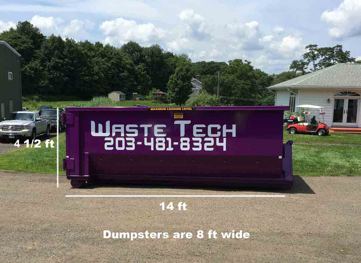 Waste Tech - 15 yard dumpster